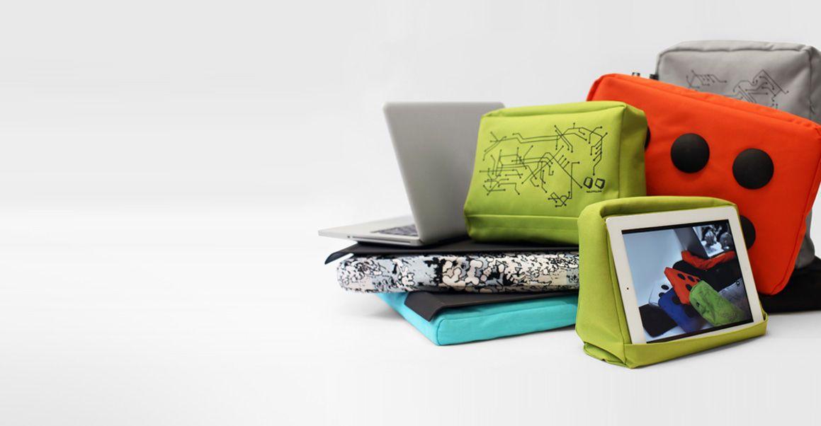 Ipad kussens, schootkussens en laptopkussen voor eten en gebruik van laptop en tablet op schoot
