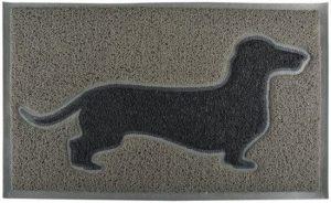 Esschert Design teckel deurmat grijs zwart