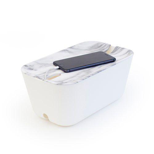 Kabelbox-kabelorganizer-marmer-print-deksel