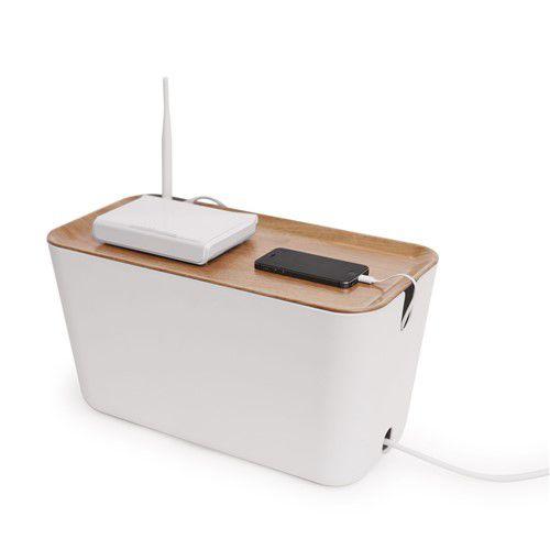 XXL Kabelbox met houten deksel van Bosign - voor modem, snoeren en als oplaadplek
