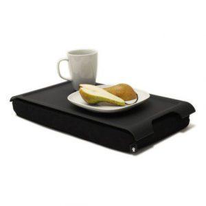 Mini Antislip schootkussen met een beker en een bordje met een doorgesneden peer