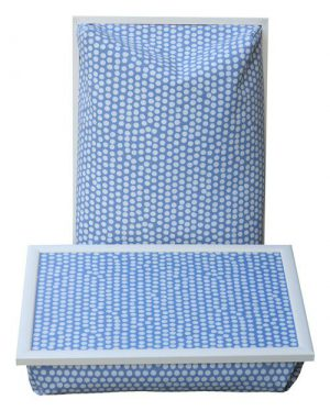 Laptray-Laptoptafel-Blauw-witte-stip