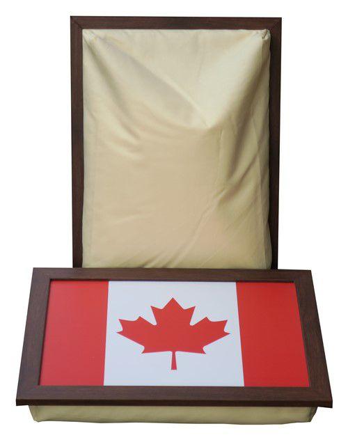 Laptray met de Canadese Vlag - Maple Leaf - voorkant