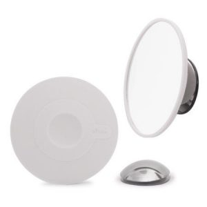 Magnetisch make-up spiegel met zuignap en magneetbevestiging voor spiegel.