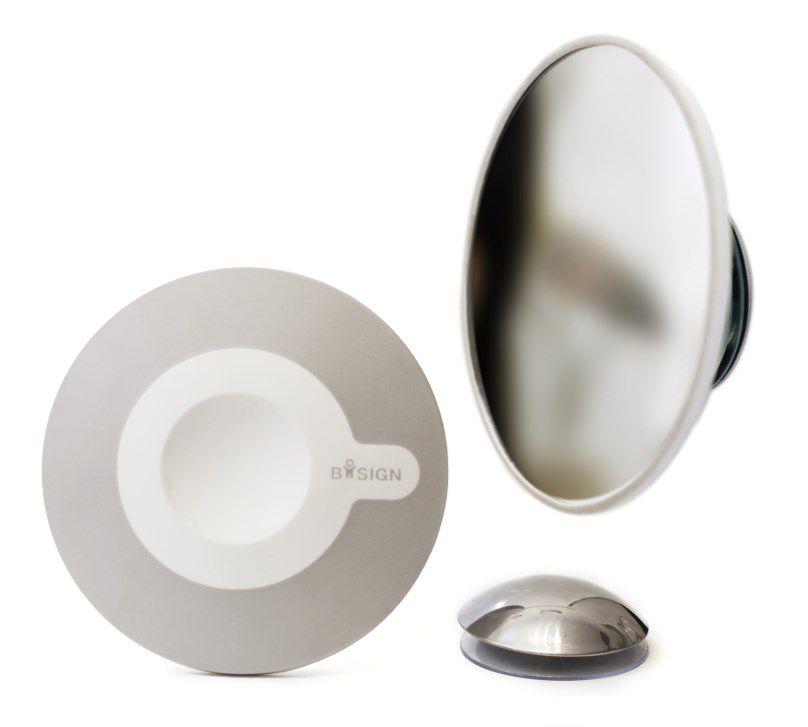 magnetische make-up spiegel waarvan spiegel los mee te nemen is