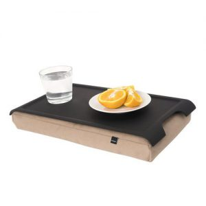 Mini laptray antislip met camel schootkussen