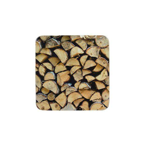 Onderzetter met foto van houtblokken