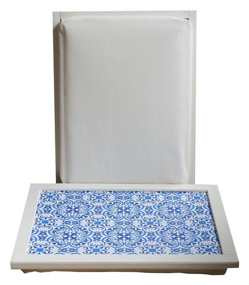 Schootkussen-Laptray-Laptoptafel-Mediterraanse-Tegels-Blauw