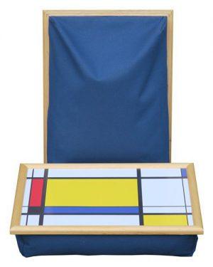 Schoottafel-Schootdienblad-Mondriaan-groot-geel-blok-blauw-schootkussen