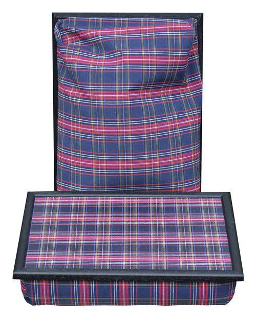 Schoottafel-Schootkussen-Laptray-Blauwe-Schotse-ruit-voorkant