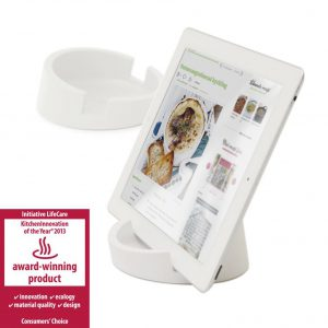 Witte tabletstandaard - Award WInning products