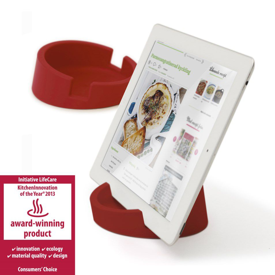 Tabletstandaard rood - Award winning product