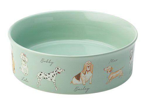 Teckel-honden-voerbak-drinkbak-turquoise