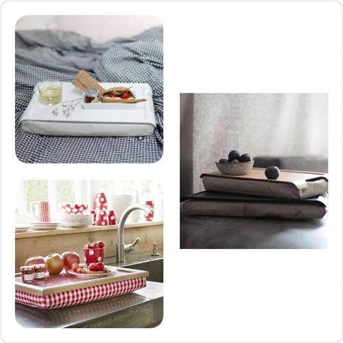 Ontbijt op bed met een laptray zonder gewiebel en geknoei