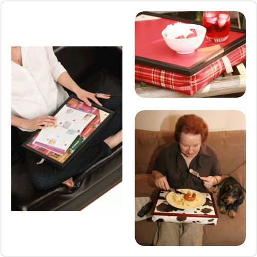 Een schoottafel voor eten of lezen op schoot