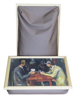 Kaartspelers-Cezanne-Laptray-Schootkussen