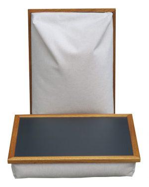 Schootdienblad-Ecru-zwarte-top-Laptray