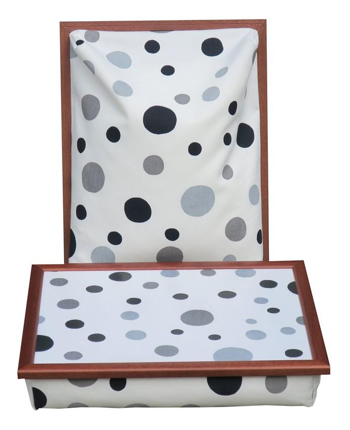 Schootkussen-Dots-Zwart-Grijs