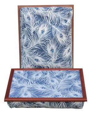 Schoottafel-Laptray-Blauw-Wit-Veren
