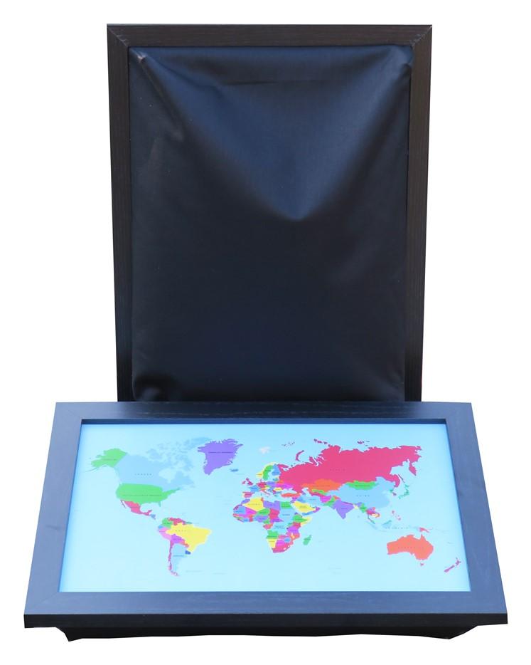 Schootkussen-Wereldkaart-Multicolor