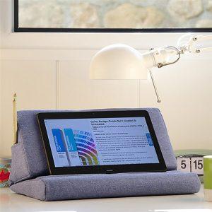Tablet-standaard-boekensteun-blauw